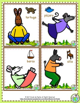 Yoga Poses for Spanish Class 18 Printable Cards