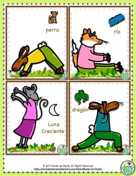 Yoga Poses For Spanish Class 18 Printable Cards By Mundo De Pepita