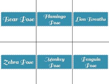 Yoga Position Cards (Full Set)