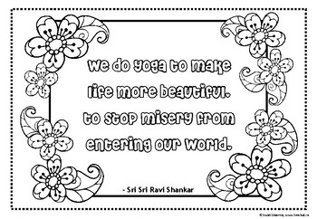 Yoga Quotes Coloring Pages 1, for Mindfulness by Swati ...