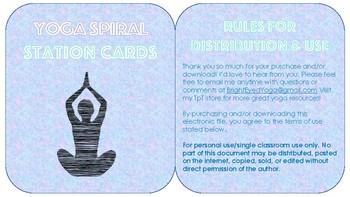 Yoga Spiral Station Cards