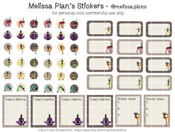 Yoga Stickers - Erin Condren Vertical