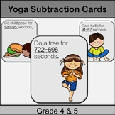 Yoga Subtraction Game: Grade 4, 5: Math in Physed or Math Brain Breaks