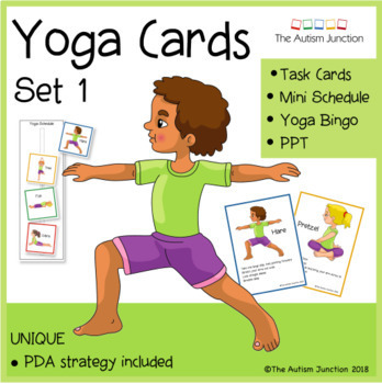 printable yoga cards 1the autism junction  teachers