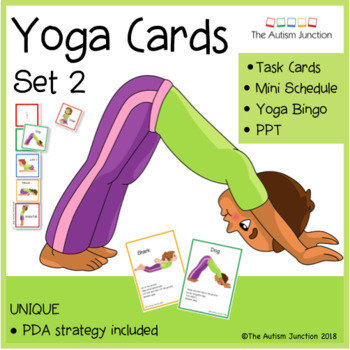 graphic about Yoga Cards Printable named Printable Yoga Playing cards 2