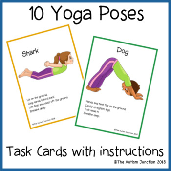printable yoga cards 2the autism junction  teachers