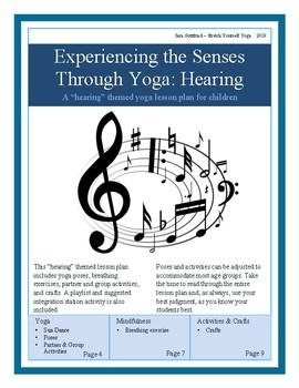 "Yoga Through The Senses: A ""Hearing"" Yoga Themed Lesson Plan"