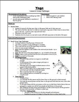 Yoga Unit Plan (Includes Appendix)