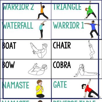Yoga Word Wall | Yoga Poses | Yoga Visuals