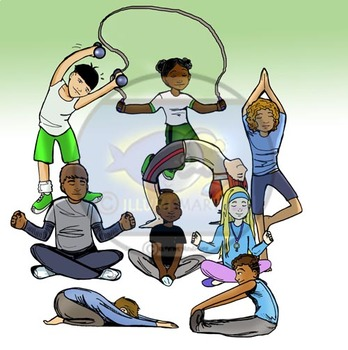 Yoga and Exercise Clip-Art!  18 Pieces BW/Color
