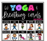 Yoga and breathing exercise cards and posters