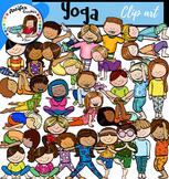 Yoga clip art -Big set of 60 graphics!