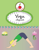Yoga clipart - Diverse kids doing yoga