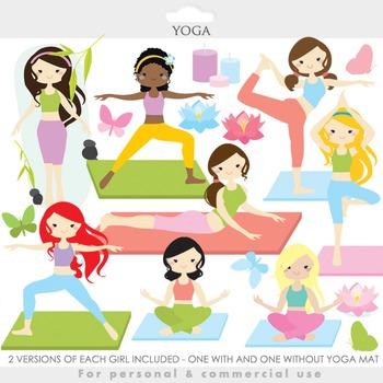 Yoga clipart - yoga clip art girl gals fitness meditation spiritual health gym