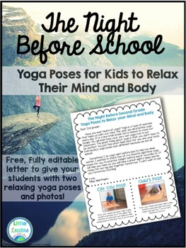 Yoga for Kids: Editable student/parent info sheet to teach