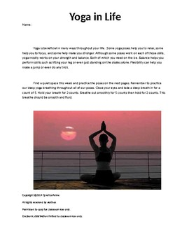 Yoga for Strength Homework and Reflection