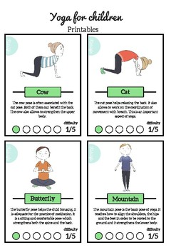Yoga Cards Worksheets Teaching Resources Teachers Pay Teachers
