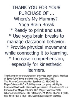 Where's My Mummy? Yoga Brain Break