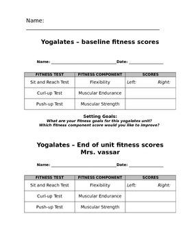 Yogalates Student Workpacket