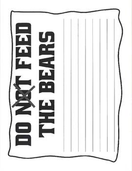 Yogi Bear craft and writing activities