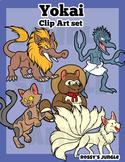 Yokai or Japanese Mythological creatures Clip Art