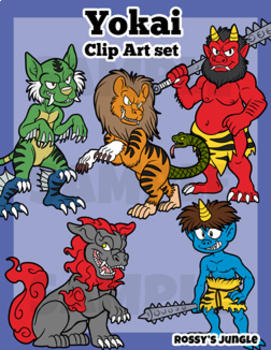 yokai or japanese mythological creatures clip art by rossy s jungle