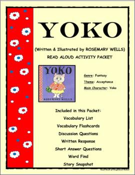 Yoko Read Aloud Activity Packet