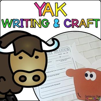 Yolanda the Yak { Animal Craftivity and Writing Prompts! }