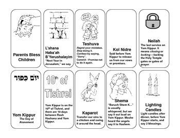 Yom Kippur Card Games (Go Fish, Memory, etc...)