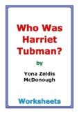"Yona Zeldis McDonough ""Who Was Harriet Tubman?"" worksheets"
