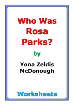 "Yona Zeldis McDonough ""Who Was Rosa Parks?"" worksheets"