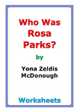 "Yona Zeldis McDonough ""Who Was Rosa Parks?"" worksheets"