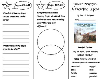 Yonder Mountain: A Cherokee Legend Trifold - Journeys 3rd