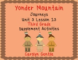Yonder Mountain Journeys Unit 3 Lesson 13 Third Grade Supp. Act.