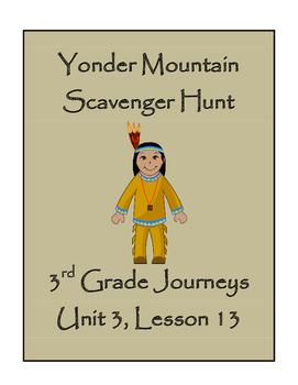 Yonder Mountain Scavenger Hunt, 3rd Grade Journeys, Unit 3, Lesson 13