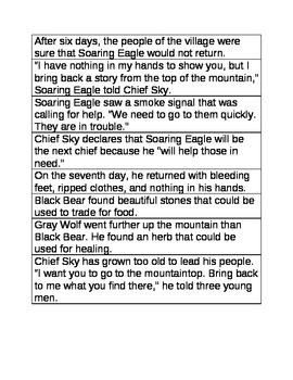 Yonder Mountain Sequencing Sentences