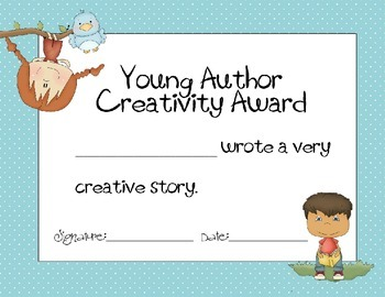 Young Author Award Pack