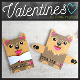 Yorkie Valentine Candy Hugger Girl