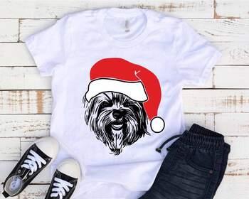 Yorkie Whit Christmas Hat Santa's Elf santa Squad Puppy dog Breed 1592s
