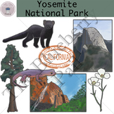 Yosemite National Park Clip Art Set