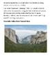 Yosemite National Park Handout