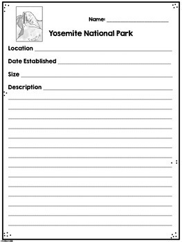 Yosemite National Park Research Project
