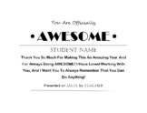 You Are AWESOME Certificate Template