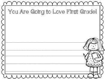 You Are Going to Love First Grade Writing Paper Flash Freebie