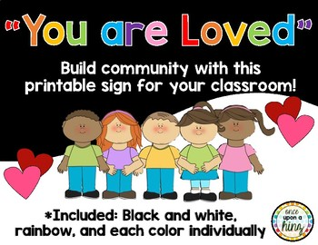You Are Loved Classroom Sign