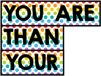 You Are More Than Your Test Scores Bulletin Board