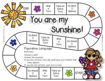 You Are My Sunshine - Figurative Language