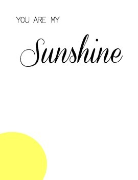 photo relating to You Are My Sunshine Printable titled Your self Are My Solar Handprint Artwork Printable