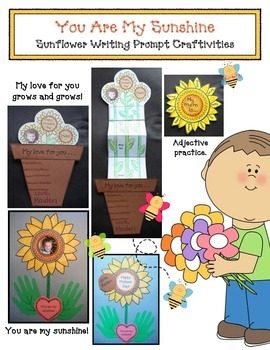 You Are My Sunshine Mother's Day Writing Prompt Packet