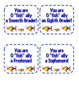 "You Are O ""fish"" ally Labels"